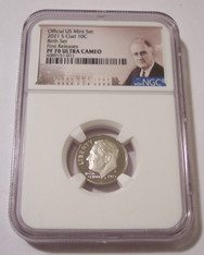 2021 S Clad Roosevelt Dime Proof PF70 UC NGC FR - Birth Set - Portrait Label