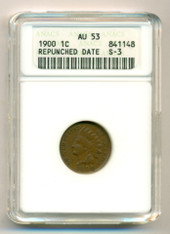 1900 Indian Head Cent RPD S-3 (FS-302) AU53 ANACS