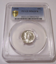 1940 Mercury Dime MS63 FB PCGS