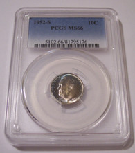 1952 S Roosevelt Dime MS66 PCGS Nice Toning