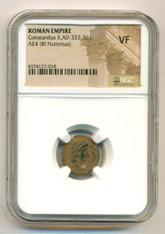 Roman Empire Constantius II AD 337-361 BI Nummus VF NGC