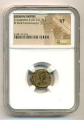 Roman Empire Constantius II AD 337-361 BI Half-Centenionalis VF NGC