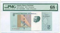 Angola 2012 5 Kwanzas Bank Note Superb Gem Unc 68 EPQ PMG