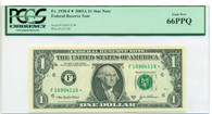 2003 A FRB Atlanta $1 Star Replacement Note Fr#1930-F* Gem New 66 PPQ PCGS Currency