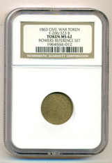 Civil War Patriotic Token 1863 Flag of Our Union F-206/323b R7 MS62 NGC Bowers