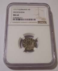 Germany States Hildesheim 1717 4 Pfennig MS62 NGC