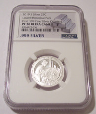 2019 S Silver Lowell NP Quarter Proof PF70 NGC