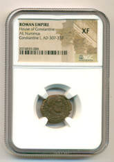 Roman Empire Constantine I The Great AD 307-337 AE Nummus XF NGC