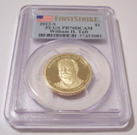 2013 S William H Taft Presidential Dollar PR70 DCAM PCGS First Strike