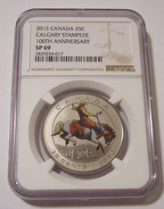 Canada 2012 25 Cents Calgary Stampede 100th Anniversary SP69 NGC
