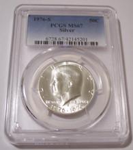 1976 S Kennedy Bicentennial Silver Half Dollar MS67 PCGS