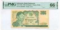 Indonesia 1968 25 Rupiah Bank Note Gem Unc 66 EPQ PMG