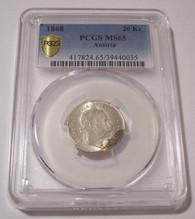 Austria Franz Joseph I 1868 Silver 20 Kreuzer MS65 PCGS