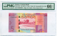 Samoa 2017 5 Tala Bank Note Gem Unc 66 EPQ PMG