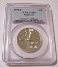 1992 P Olympic Commemorative Half Dollar MS69 PCGS