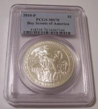 2020 P Boy Scouts of America Commemorative Silver Dollar MS70 PCGS