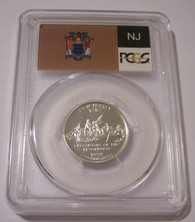 1999 S Silver New Jersey State Quarter Proof PR69 DCAM PCGS Flag Label