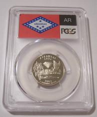 2003 S Clad Arkansas State Quarter Proof PR70 DCAM PCGS Flag Label