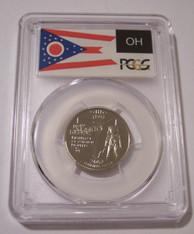 2002 S Clad Ohio State Quarter Proof PR70 DCAM PCGS Flag Label