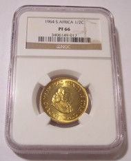 South Africa 1964 1/2 Cent Proof PF66 NGC Low Mintage