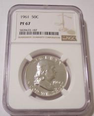 1961 Franklin Half Dollar Proof PF67 NGC