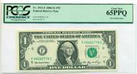 2006 FRB Atlanta $1 Note Boca Raton Run Gem New 65 PPQ PCGS Currency