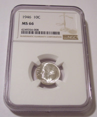 1946 Roosevelt Dime MS66 NGC