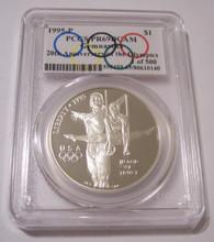 1995 P Gymnastics Olympics Commemorative Silver Dollar Proof PR69 DCAM PCGS