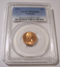Australia 1972 Cent Feather-Tailed Glider MS66 RED PCGS