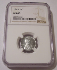 1943 Lincoln Wheat Steel Cent MS65 NGC