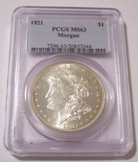 1921 Morgan Silver Dollar MS63 PCGS