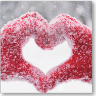 SALE - Snowy Hands - Charity Christmas cards