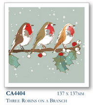Christmas cards - Three Robins (10pk)