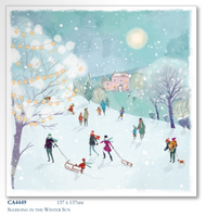 Christmas Cards - Sledging in the Winter (10pk)