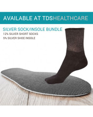 5% silver insole + 12% short sock