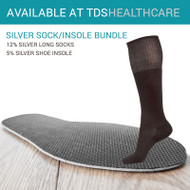 Heated 5% Silver U-Cut Insole + 12% Silver Long Sock