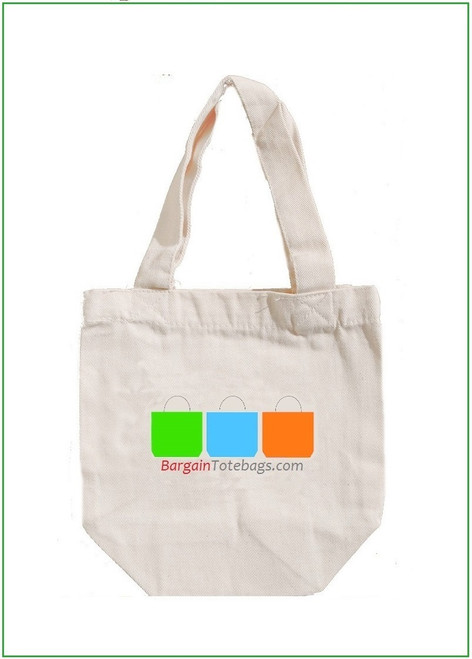 """8""""x8""""x4"""" Natural Twill Cotton Bag with Full Color Imprint, 8 oz 100% cotton twill. Customize it, personalize it, promote it, resell it, with your photo, logo, artwork."""