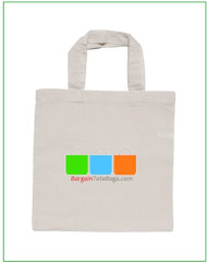 13x13 5oz natural or white cotton tote bag with full color imprint, 5 oz 100% cotton. Customize it, personalize it, promote it, resell it, with your photo, logo, artwork.