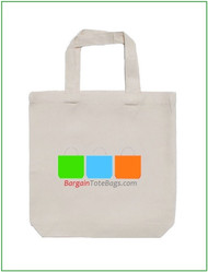 "13""x13""x4"" Natural or White Tote Bag with Full Color Imprint, 5 oz 100% cotton. Customize it, personalize it, promote it, resell it, with your photo, logo, artwork."