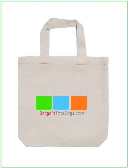 """13""""x13""""x4"""" Natural or White Tote Bag with Full Color Imprint, 5 oz 100% cotton. Customize it, personalize it, promote it, resell it, with your photo, logo, artwork."""