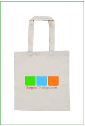 "15""x16"" Natural Twill Tote Bag with Full Color Imprint, 8 oz 100% cotton twill. Customize it, personalize it, promote it, resell it, with your photo, logo, artwork."