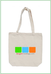 "15""x15""x4"" White Cotton Canvas Tote Bag with Full Color Imprint. heavy 10 oz cotton canvas. Customize it, personalize it, promote it, resell it, with your photo, logo, artwork."