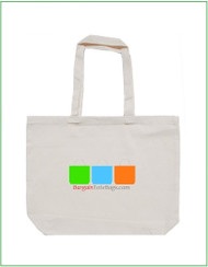 "20""x16""x5"" Natural Cotton Twill Tote Bag with Full Color Imprint, 8 oz 100% cotton twill. Customize it, personalize it, promote it, resell it, with your photo, logo, artwork."