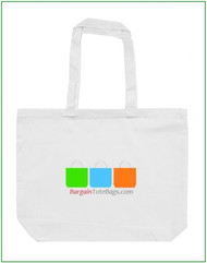 "20""x16""x5"" Jumbo Natural or White Cotton Canvas Tote Bag with Full Color Imprint, heavy 10 oz  cotton canvas. Customize it, personalize it, promote it, resell it, with your photo, logo, artwork."