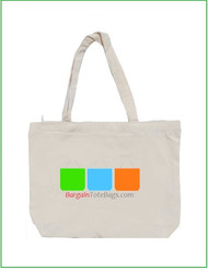 "18""x14""x4"" Natural or White Cotton Canvas Zippered Tote Bag with Full Color Imprint, heavy 10 oz 100% cotton canvas. Customize it, personalize it, promote it, resell it, with your photo, logo, artwork."