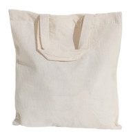 "13""x13"" Natural Cotton Tote Bag"