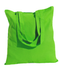 "Wholesale 15""x16"" color cotton tote bags - Lime"