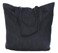 "Wholesale 20""x16""x5"" dark denim tote bag"