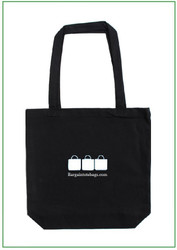 "15""x15x4"" canvas tote bag with one color screen print"