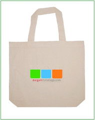 "18""x14""x4"" Natural Cotton Tote Bag with Full Color Imprint, 100% cotton. Customize it, personalize it, promote it, resell it, with your photo, logo, artwork."